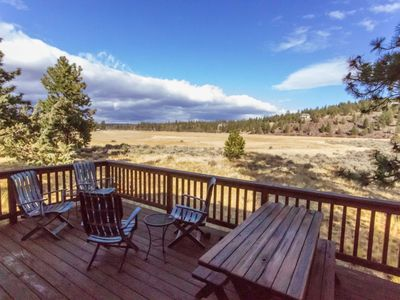 Photo for Cozy vacation cabin in Sisters Oregon, sleeps up to 4 with amazing views and quick walk or bike ride
