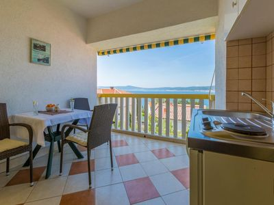 Photo for Studio flat with terrace and sea view Crikvenica