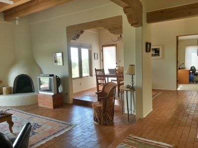 View into Living Room, hall and dining room