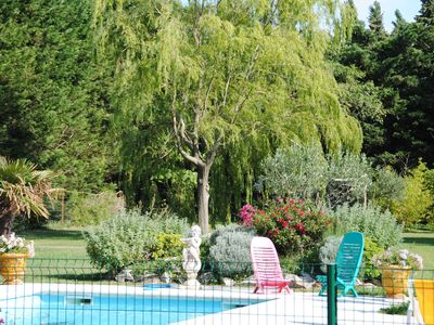 Photo for Provencal Mas swimming pool and garden 13 people.