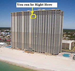 Photo for Luxury Condo- Gulf Front 24th Floor, 2 Bath WiFi HBO 3 Pools Great Amenities.