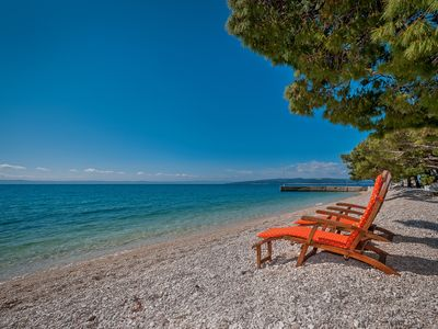 Photo for Luxury Beach House Bratus by the sea, on the beach in Bratus - Makarska Riviera