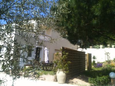 Photo for Ground PIETROSELLA villa overlooking the sea, with garden in a quiet, without vis-a-vis