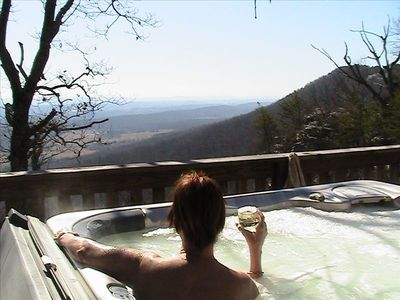 Photo for Spectacular View! Private 3 Bd/2 Ba on Lookout Mt, Lrg Hot Tub, FP, Pets Ok!