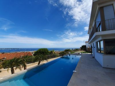 Photo for Panoramic sea view - Exceptional villa on the heights of Golfe Juan