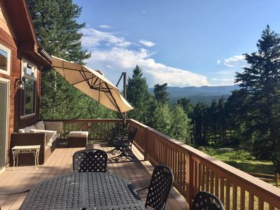 Photo for Roomy family home with sunny views, 3br, 3ba.  Close to downtown Evergreen & 285