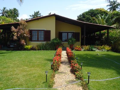 Photo for House to the SEAFRONT on the beautiful beach of Japaratinga