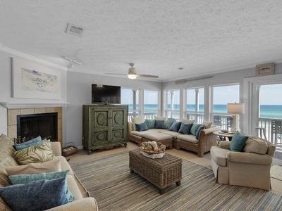 Photo for Amazing Condo, Free WiFi, Wood fireplace, On the beach