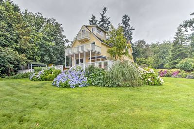 Enjoy the landscaped grounds of this spacious Vashon vacation rental!