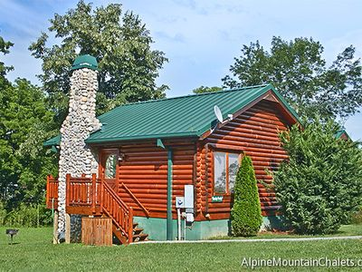 """Photo for """"Hanky Panky"""" is an incredible one bedroom log cabin, just minutes off the Parkway in Pigeon Forge!"""