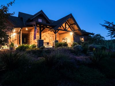 Photo for Fern Hill Lodge-Luxury Log Retreat on 25 acres in Willamette Valley Wine Country