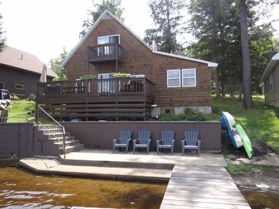 Photo for Peaceful Cottage on the Water ~ Kayaks, SUP Boards, Paddle Boat, Hot Tub, Sauna