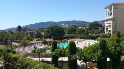 Photo for 2 Rooms Modern Residence WIFI Pool Parking 300 m Beach Juan les Pins
