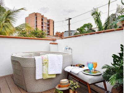 Photo for Private balcony and a Jacuzzi in Laureles...YES!