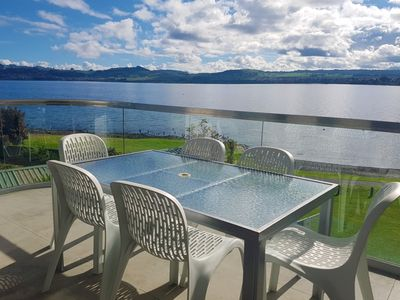 Photo for Lakefront Apartment - Best lake views, Heated Swimming Pool, Hot-Tub, Gym, Sauna