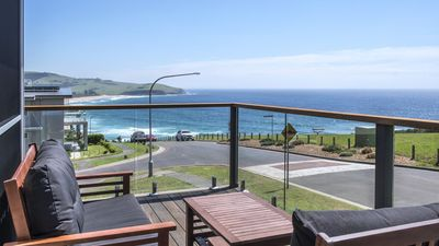 Ātaahua's view from one if many decks