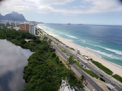 Photo for Apt FRONT TO PRAIA BAR OF TIJUCA w / PARKING + SECURITY 24h + SWIMMING POOL