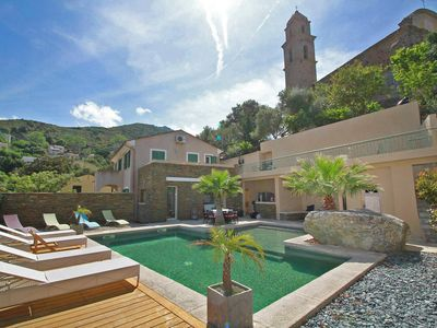 Photo for Villa 6/8 pers. quiet, private heated pool, open view