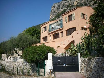 Photo for Superb Holiday. Panoramic Views Mountain & Sea. Private Pool. Aircon St. Jeannet