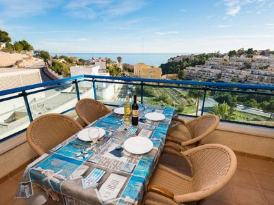 Photo for Calpe Apartment, Sleeps 4 with Pool, Air Con and WiFi