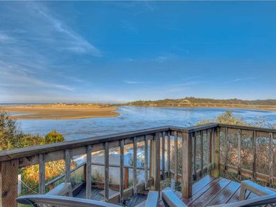 Photo for Pet-Friendly Waldport Home on Bluff Overlooking the Bay with Ocean vViews