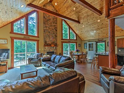 Photo for 3-Story Lake Harmony Resort Chalet-Fire Pit & Deck