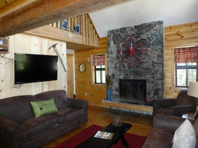 Main Living Area, Flat Screen TV and Gas Fireplace