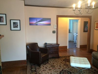 Photo for Beautiful light filled flat with oak floors in walkable neighborhood