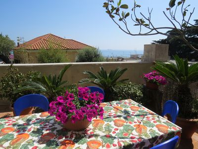 Photo for Fresh house with sea view terrace 200 meters from the beaches