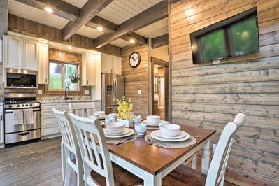 The 2-bedroom, 2-bath cabin is perfect for anglers, hikers & nature lovers!
