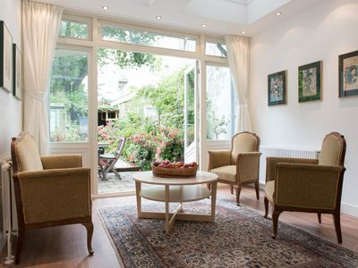 Photo for A magnificent two-bedroom apartment with a private garden, for four guests, central to the Jordaan a