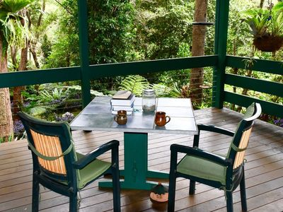 Relax on the covered verandah and enjoy the beauty of nature.