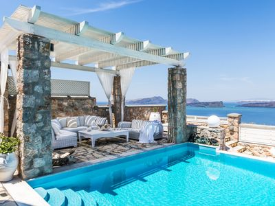 Photo for Luxury 5 Bedroom Villa in Santorini Greece - Complimentary Concierge Service Included