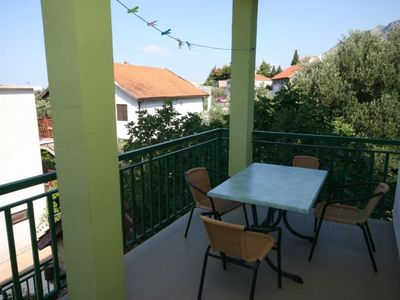 Photo for Studio flat with terrace and sea view Gradac, Makarska (AS-2784-b)
