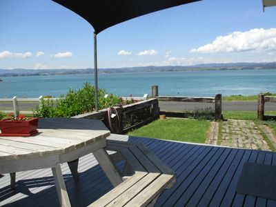 Photo for Absolute harbourside beach frontage, best views of the water.