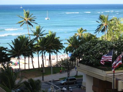 Photo for Awesome Ocean & Shore View; Kitchen and Free Wifi;3 minute Walk to Waikiki Beach