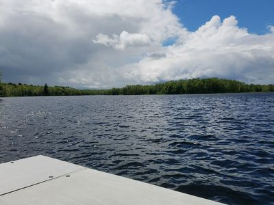 The serene waters of Chief Lake from private dock