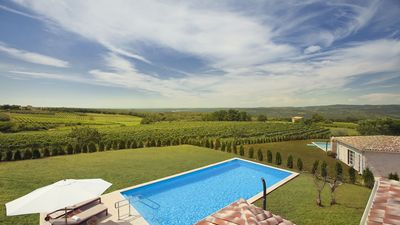 Photo for Exclusive Luxury Villa with pool in Istria, view over the country side