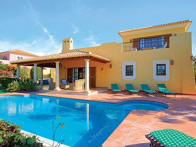 Photo for 4 bedroom villa overlooking golf course, private pool, Wi-Fi & air con