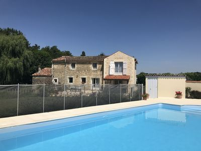 Photo for Delightful Detached Millhouse with Private Heated Pool, WiFi, 20 mins from coast