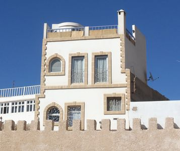 Photo for Traditional house, bright, in the heart of the Medina 200m from the beach.