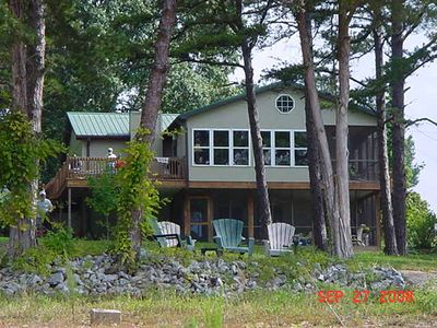 Photo for Almost Level Lot,  Dock with Sun Deck, Pontoon rental, (25 min. from Clemson)