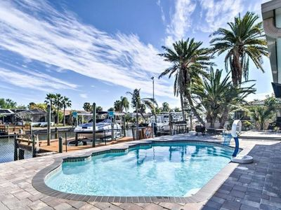 Photo for Tropical Waterfront Florida Pool Home With Dock-Bring your boat!!!