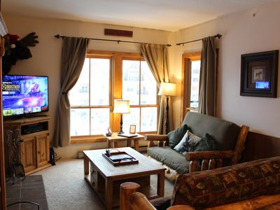 Photo for Ski In / Ski Out, 1 BD / 1 BA Condo, Sleeps 5, 1 Block to Main, Village at Breck