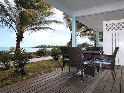Photo for Stunning Oceanfront Villa, steps away from the beautiful white sand