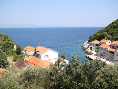 Photo for One bedroom apartment with terrace and sea view Lučica (Lastovo)