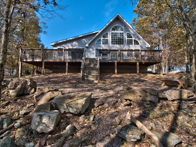 Photo for Tastefully Decorated Family Friendly Mountain Retreat Wooded Views and Gameroom