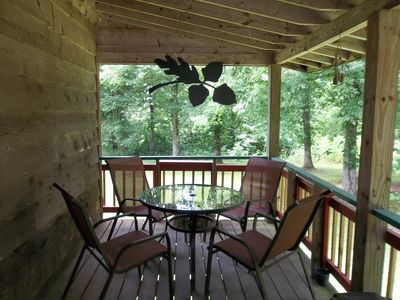 Front porch w/table and seating