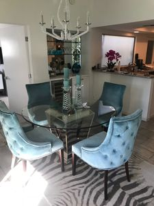 Chic dining area