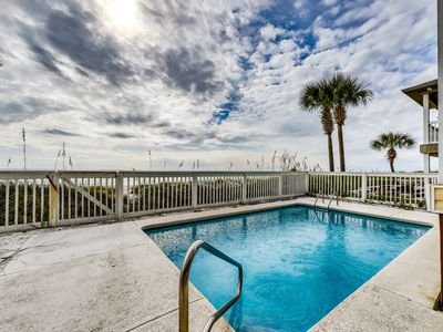 Photo for Colorful waterfront getaway w/ a shared, outdoor pool & easy beach access